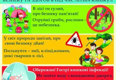 Безпека та здоров'я під час літніх канікул